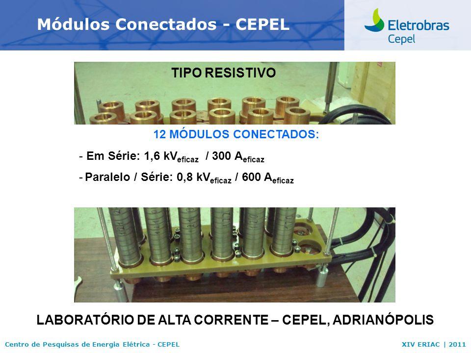 Centro de Pesquisas de Energia Elétrica - CEPELXIV ERIAC | 2011 Módulos Conectados - CEPEL LABORATÓRIO DE ALTA CORRENTE – CEPEL, ADRIANÓPOLIS 12 MÓDUL