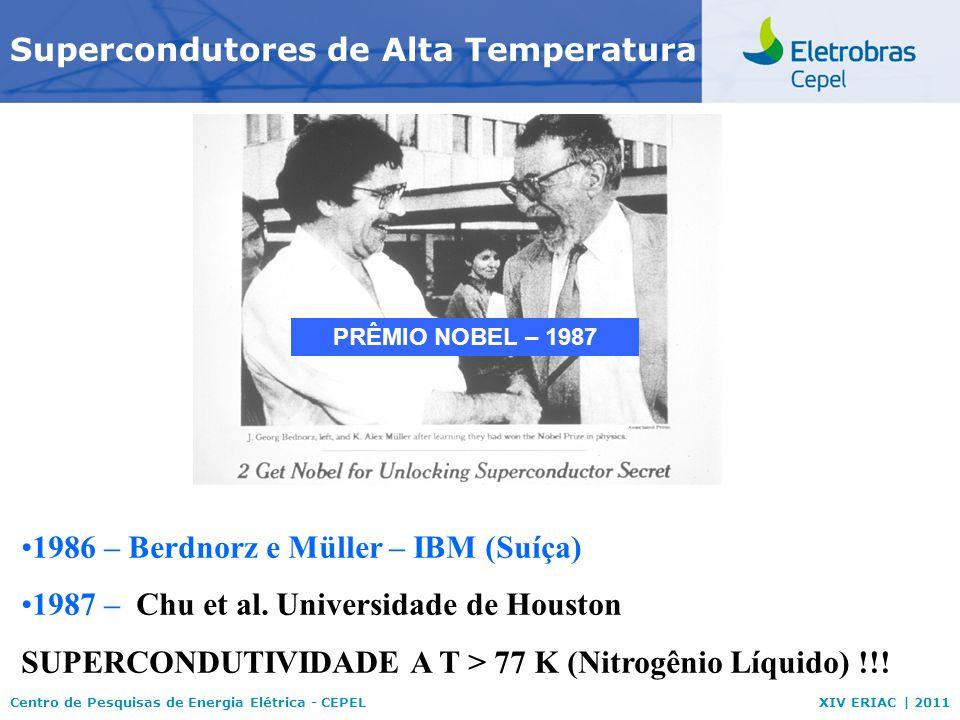 Centro de Pesquisas de Energia Elétrica - CEPELXIV ERIAC | 2011 Supercondutividade Ímã permanente Supercondutor Resistência elétrica nulaRepulsão de campos magnéticos