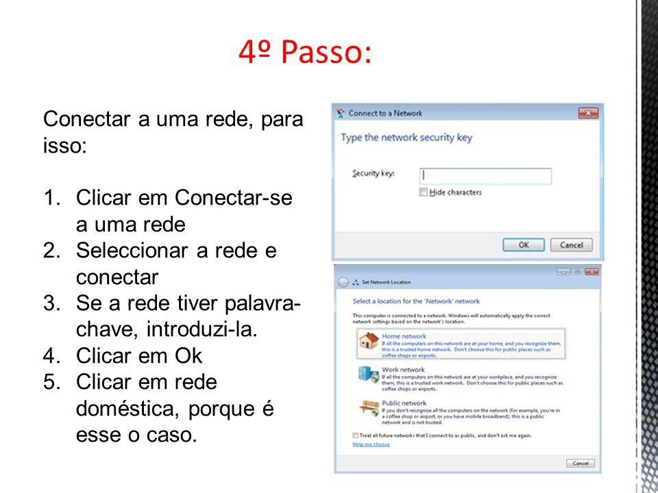 5º Passo: No 5º passo, é para ativar o compartilhamento de ficheiros.