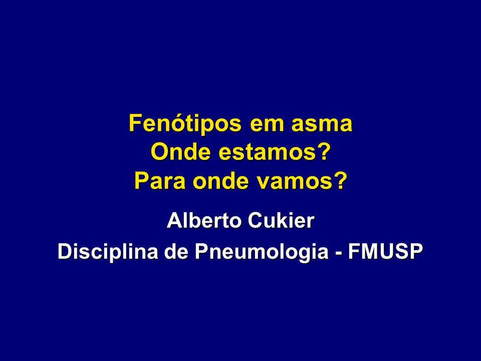 Fenótipos em asma Onde estamos? Para onde vamos? Alberto Cukier Disciplina de Pneumologia - FMUSP