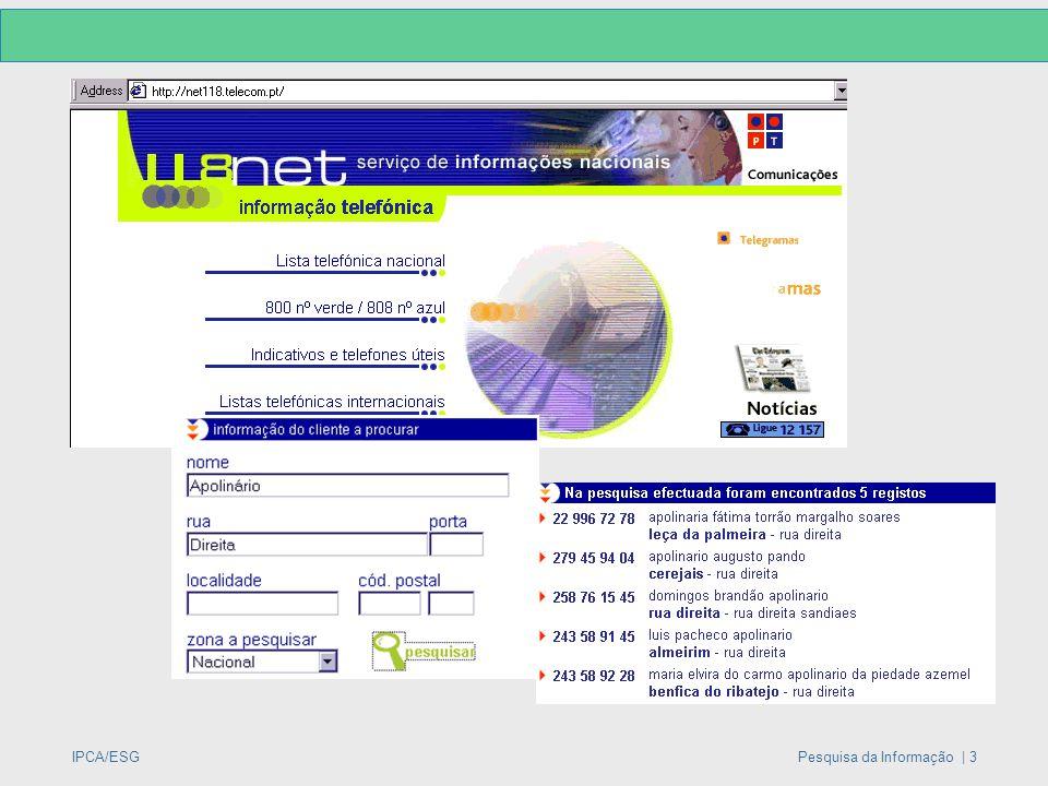 IPCA/ESGPesquisa da Informação | 3