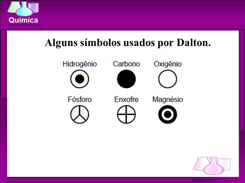 Química Alguns símbolos usados por Dalton.