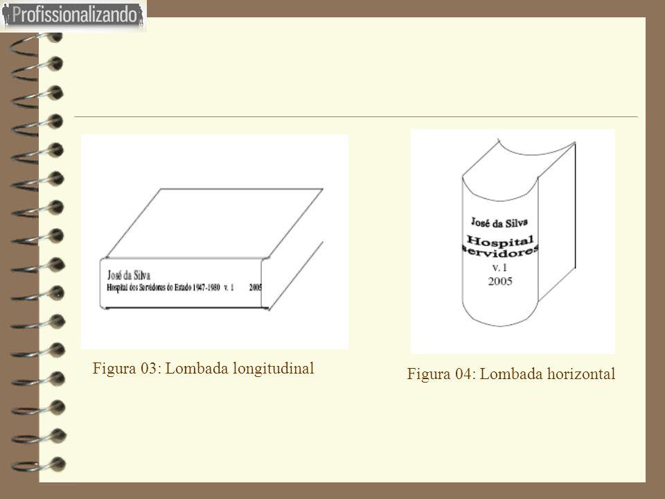 Figura 03: Lombada longitudinal Figura 04: Lombada horizontal