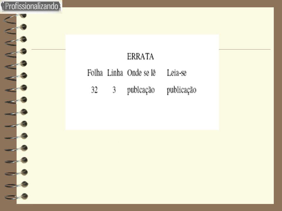 Figura 06 : Exemplo de errata