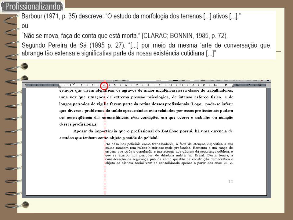 Figura 22 : Exemplo de Citação direta com menos de três linhas