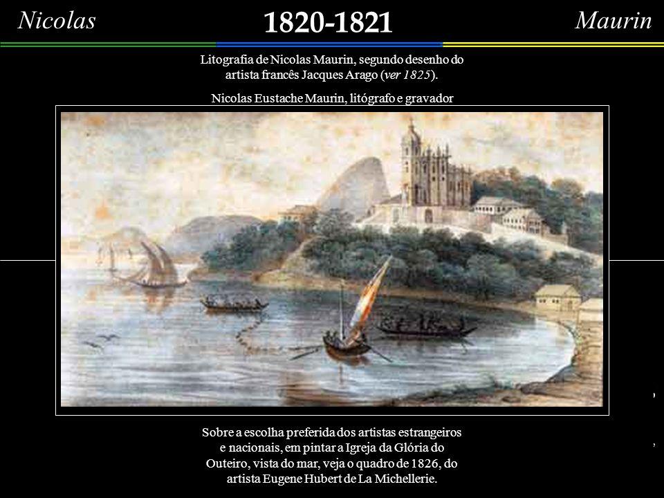 1819 (c) Detalhes da aquarela (24,0 x 30,0 cm) do grande cenógrafo, pintor, gravador, desenhista e arquiteto francês, Arnaud Marie Julien Pallière, na