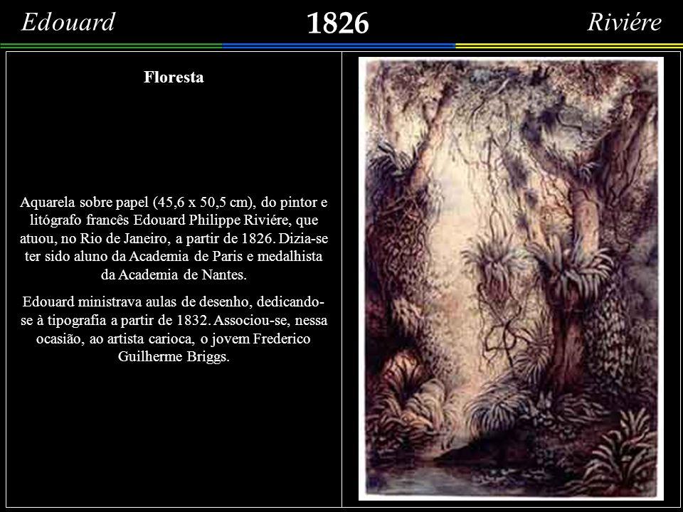 1825 (c) Brésil. Vue prise du Mouillage de l'Uranie, près le fort de Vilegagnon à Rio de Janeiro. Mais uma imagem do Rio de Janeiro feita à bordo da C