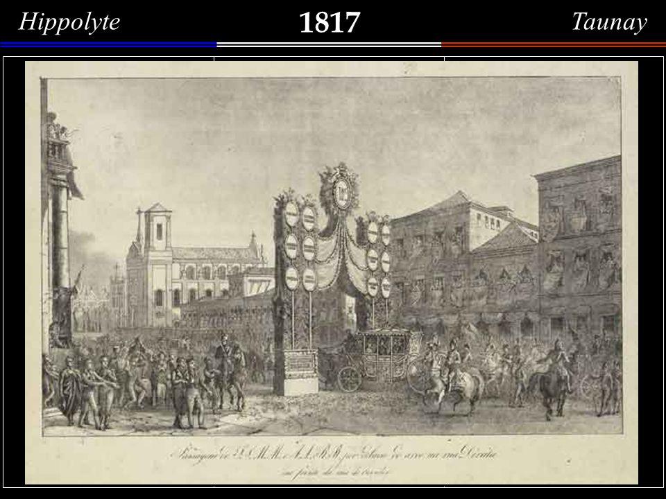 1817 J. Alphonse Pellion Vue de la rade de Rio de Janeiro Aquarela (15,2 x 20,8 cm) do francês J. Alphonse Pellion, que também esteve à bordo da corve