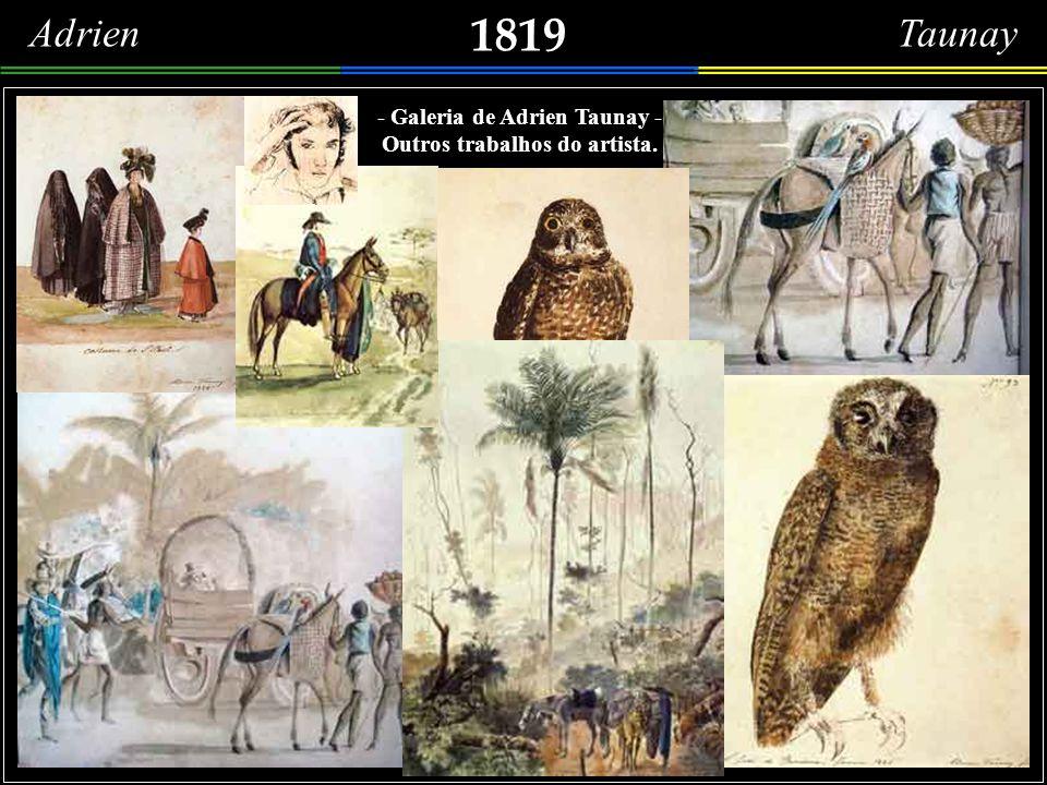 1817 O povo na Rua Direita (atual Rua Primeiro de Março). Detalhes do desenho do artista francês Thomas Marie Hippolyte Taunay, que retratou a Família