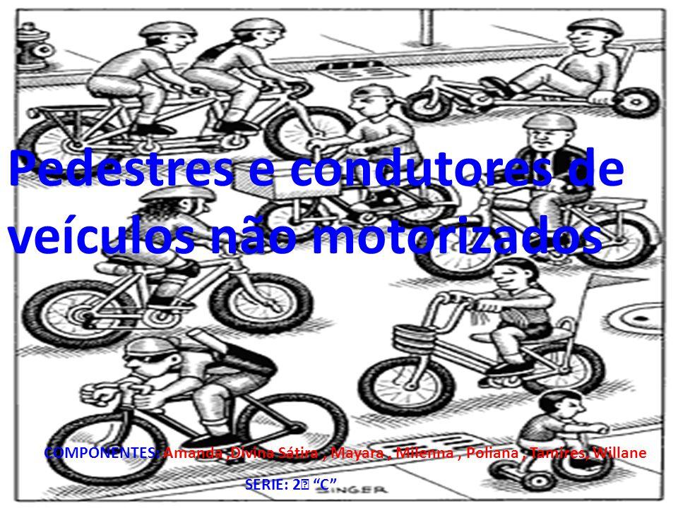 """Pedestres e condutores de veículos não motorizados COMPONENTES: Amanda,Divina Sátira, Mayara, Milenna, Poliana, Tamires, Willane SERIE: 2 ゚ """"C"""""""