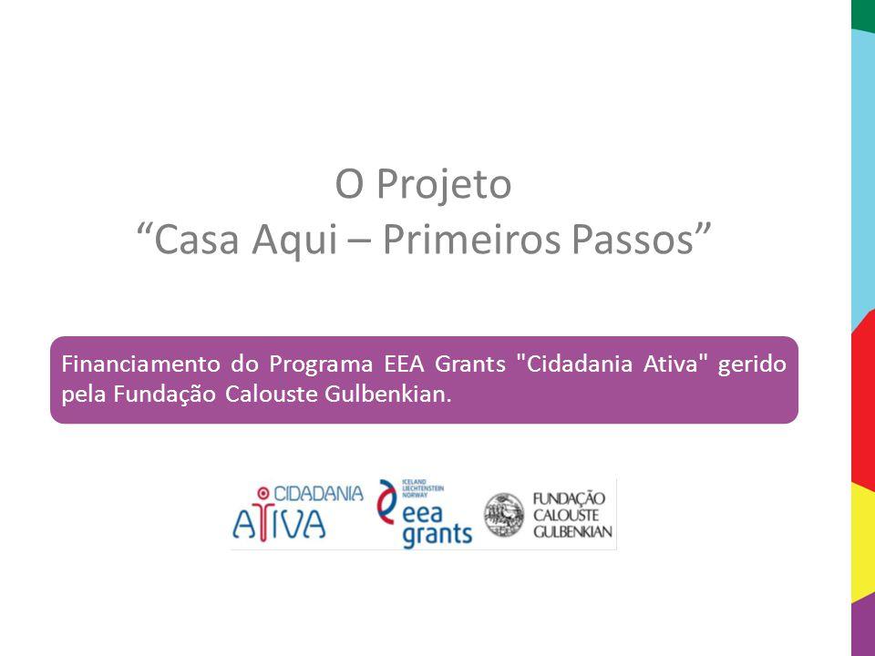 """O Projeto """"Casa Aqui – Primeiros Passos"""" Financiamento do Programa EEA Grants"""