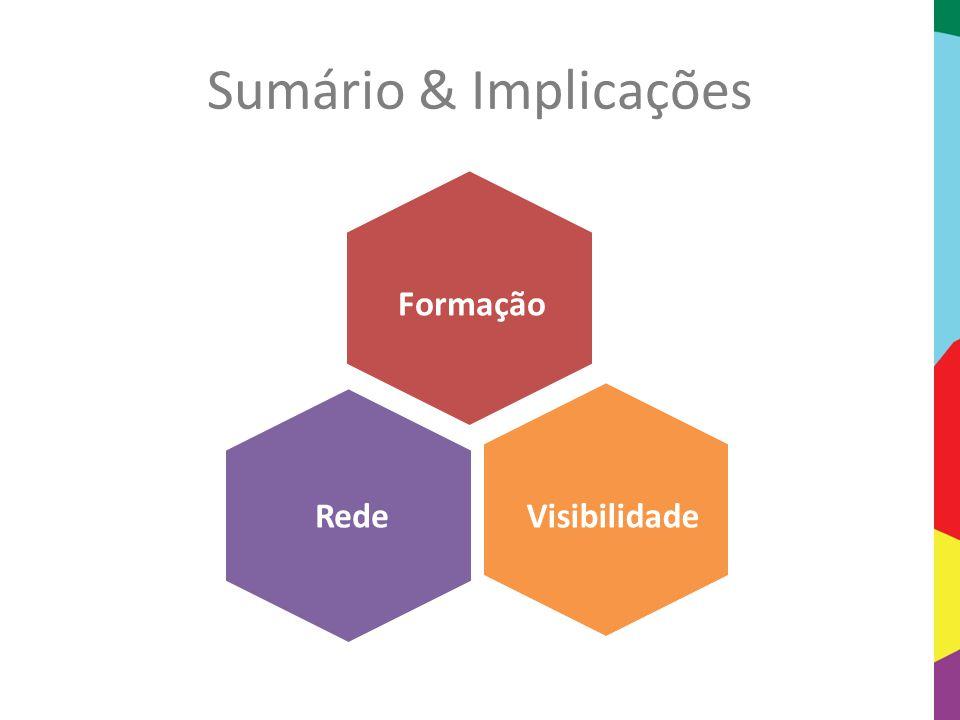 Sumário & Implicações Visibilidade Formação Rede