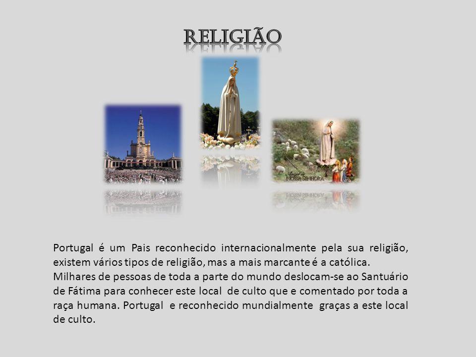 Portugal é um Pais reconhecido internacionalmente pela sua religião, existem vários tipos de religião, mas a mais marcante é a católica. Milhares de p
