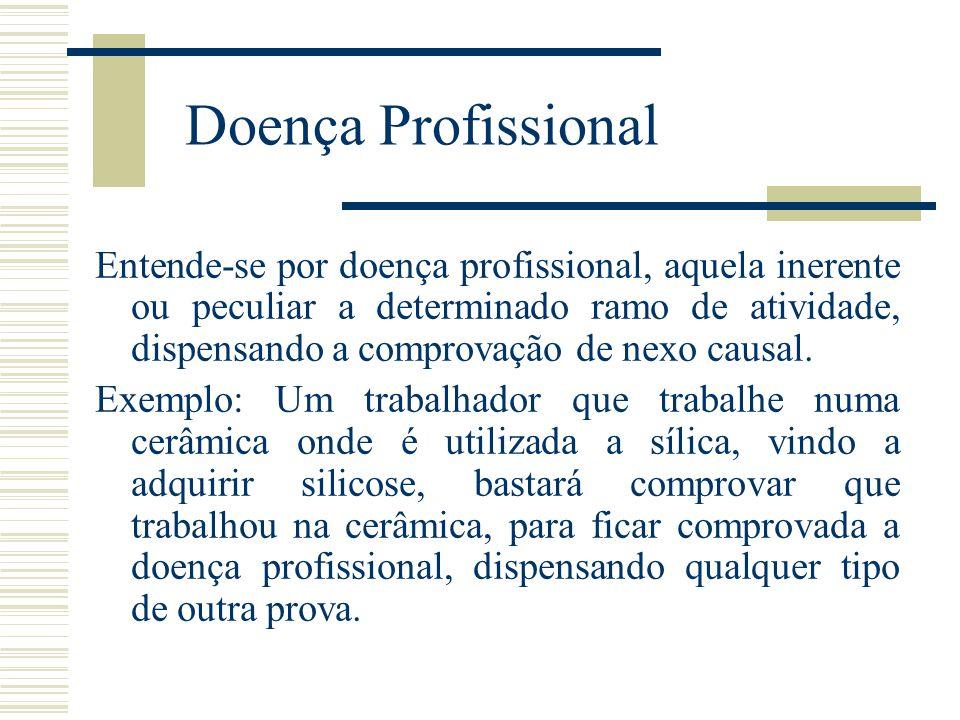 Doença do Trabalho A doença do trabalho diferencia-se da doença profissional em vários pontos.
