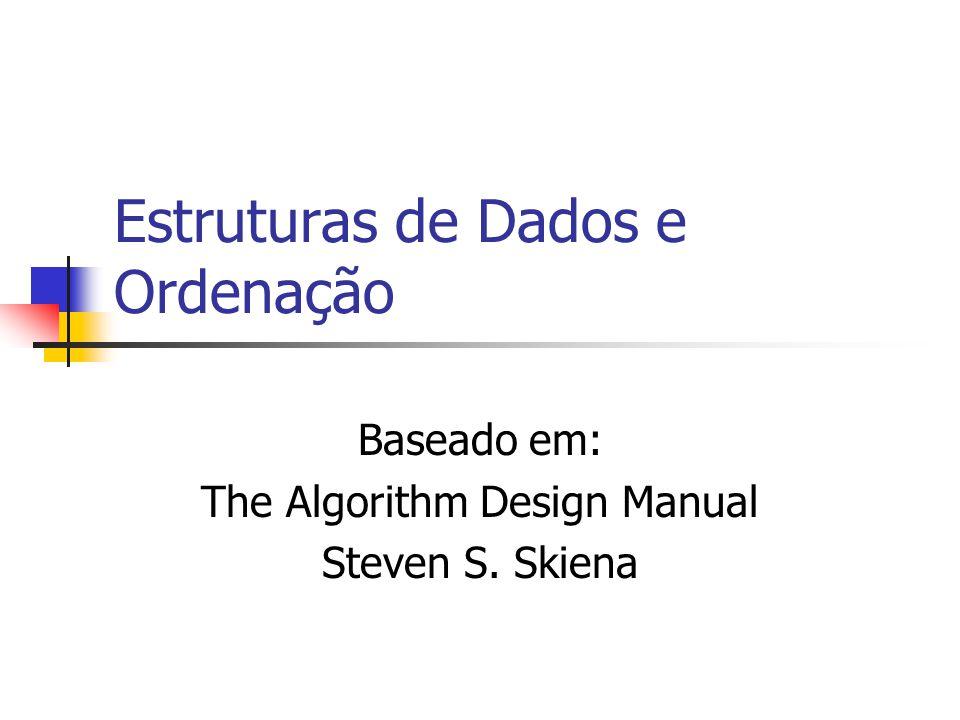 Estruturas de Dados e Ordenação Baseado em: The Algorithm Design Manual Steven S. Skiena