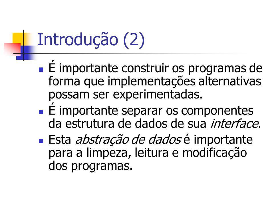 Implementação Lista ligada desordenada Inserção e remoção em tempo constante.