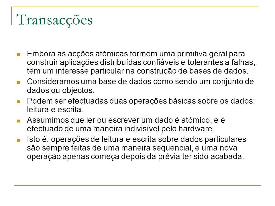 Protocolo Commit das Duas Fases O protocolo funciona em duas fases.
