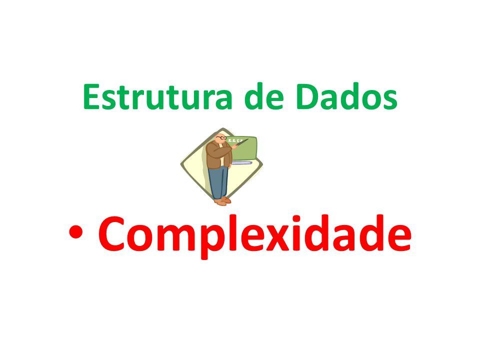Complexidade Estrutura de Dados