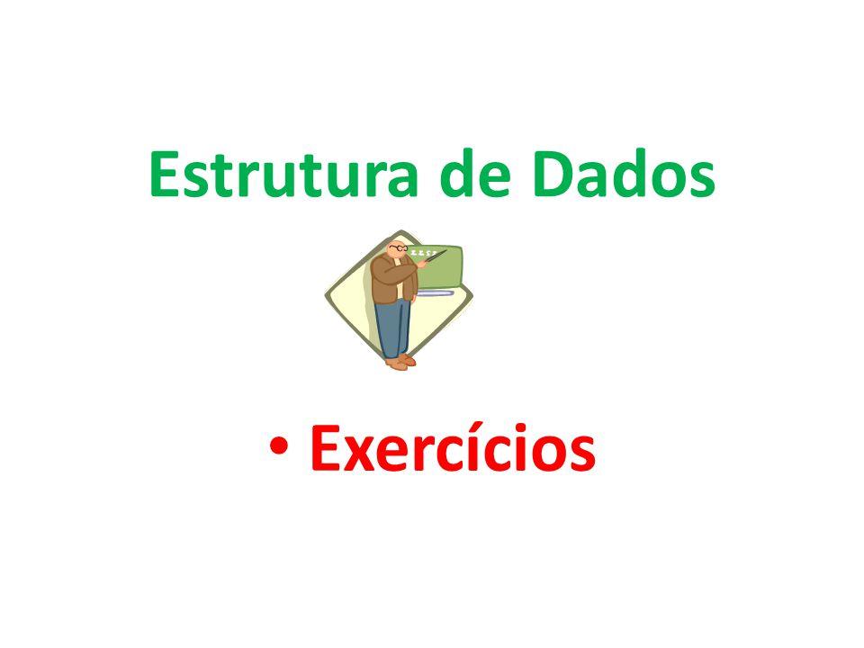 Exercícios Estrutura de Dados