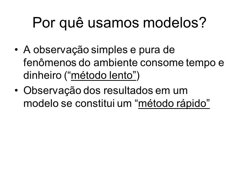 Por quê usamos modelos.