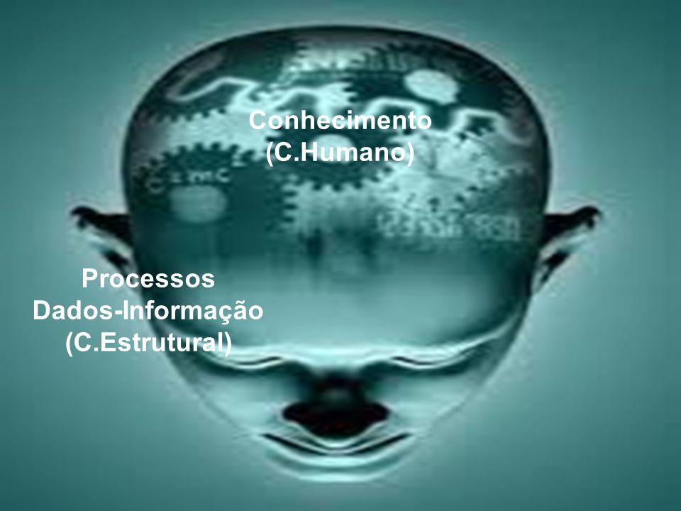 Processos Dados-Informação (C.Estrutural) Conhecimento (C.Humano)