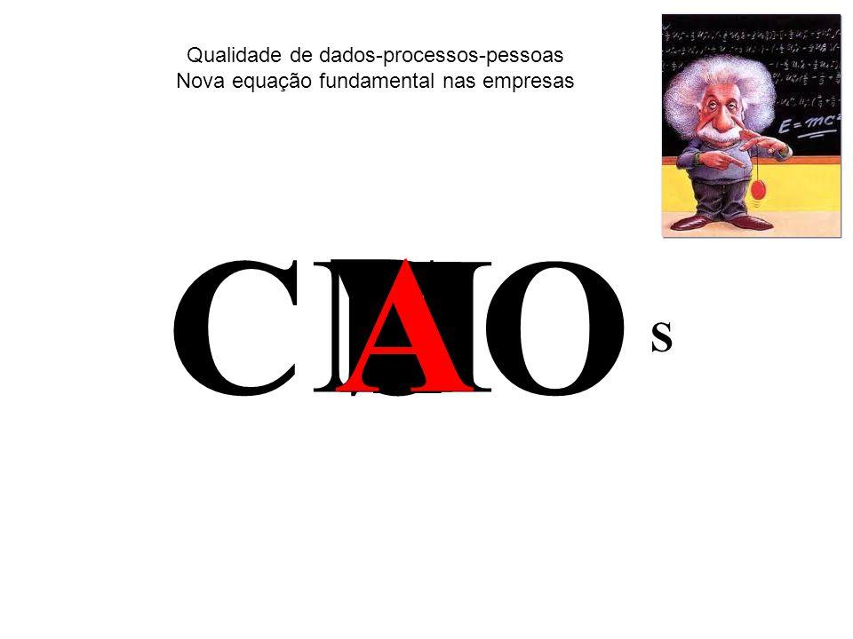E CO S Qualidade de dados-processos-pessoas Nova equação fundamental nas empresas D M F SI A