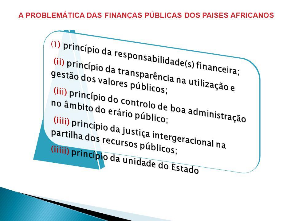 A PROBLEMÁTICA DAS FINANÇAS PÚBLICAS DOS PAISES AFRICANOS