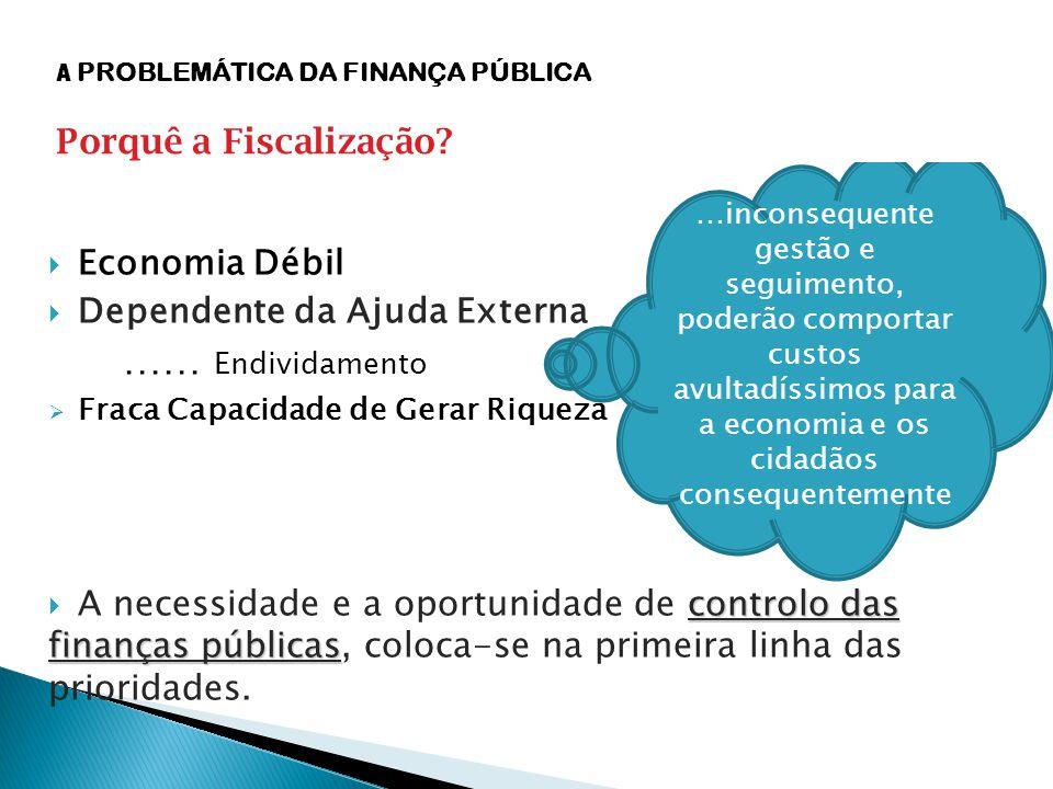  Economia Débil  Dependente da Ajuda Externa …… Endividamento  Fraca Capacidade de Gerar Riqueza controlo das finanças públicas  A necessidade e a