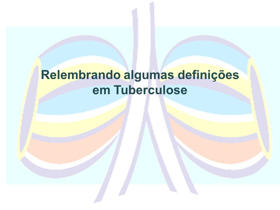 Relembrando algumas definições em Tuberculose