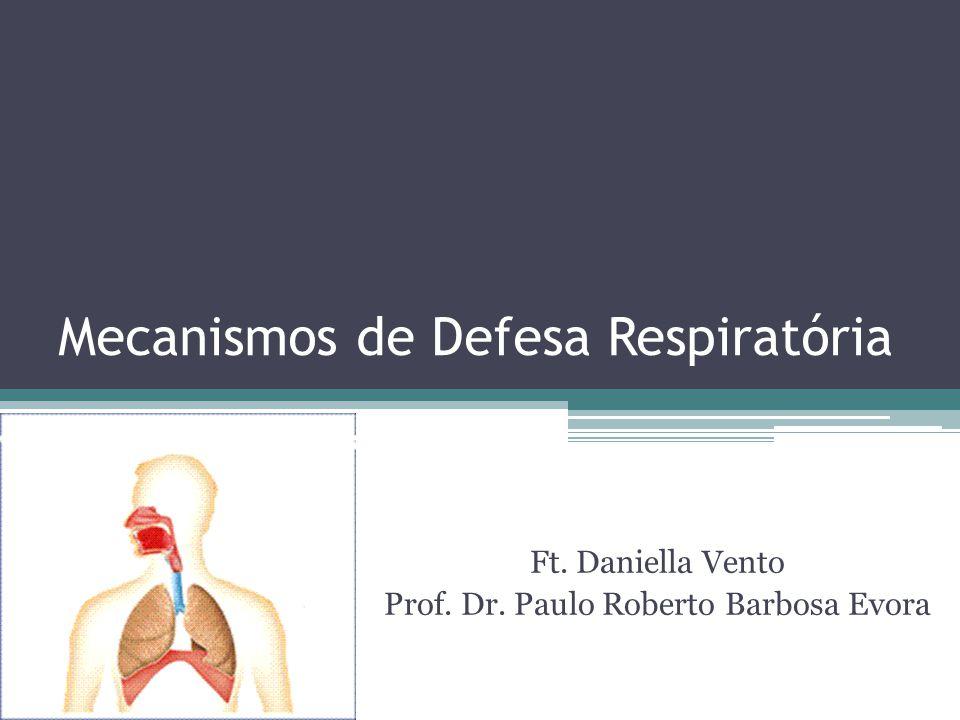 Mecanismos de Defesa Respiratória Ft. Daniella Vento Prof. Dr. Paulo Roberto Barbosa Evora