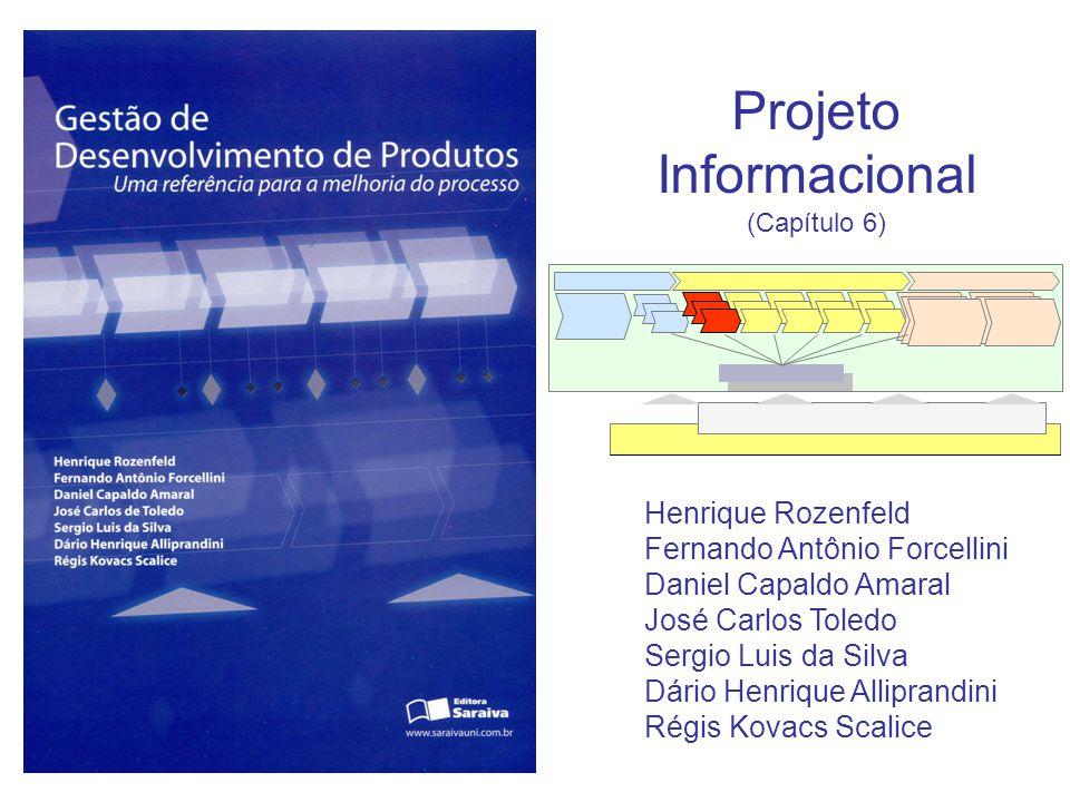 Projeto Informacional (Capítulo 6) Henrique Rozenfeld Fernando Antônio Forcellini Daniel Capaldo Amaral José Carlos Toledo Sergio Luis da Silva Dário