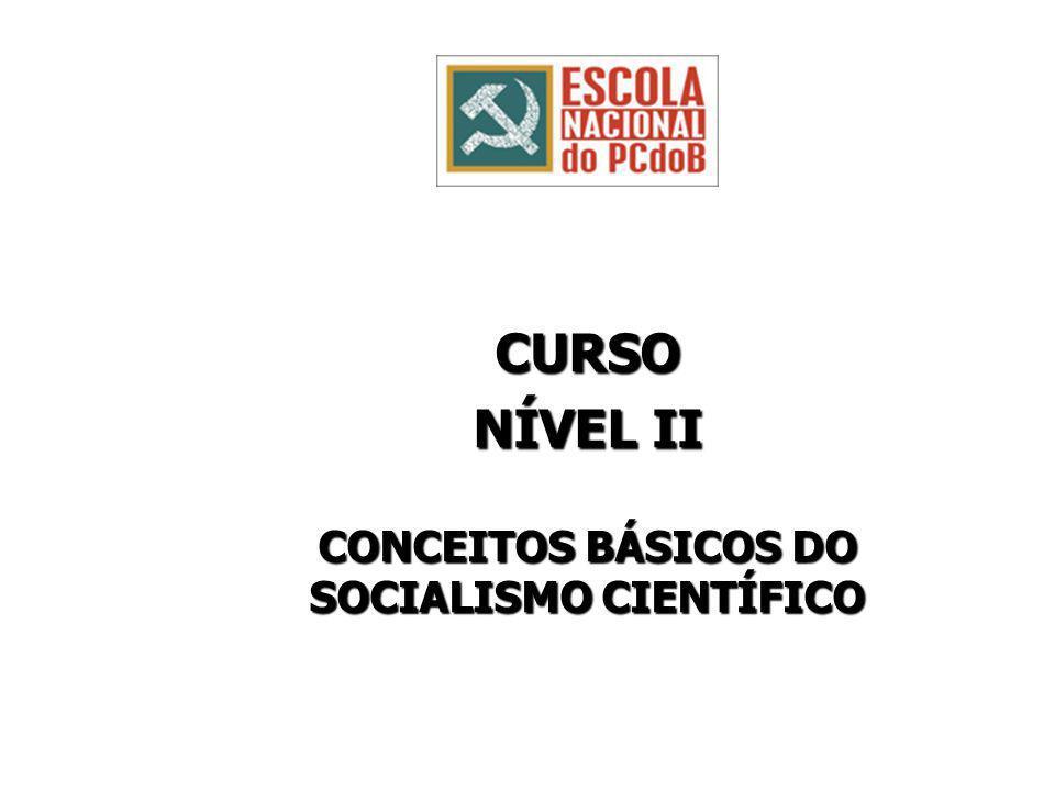 CURSO NÍVEL II CONCEITOS BÁSICOS DO SOCIALISMO CIENTÍFICO