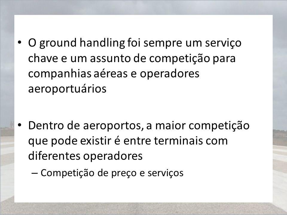O ground handling foi sempre um serviço chave e um assunto de competição para companhias aéreas e operadores aeroportuários Dentro de aeroportos, a ma