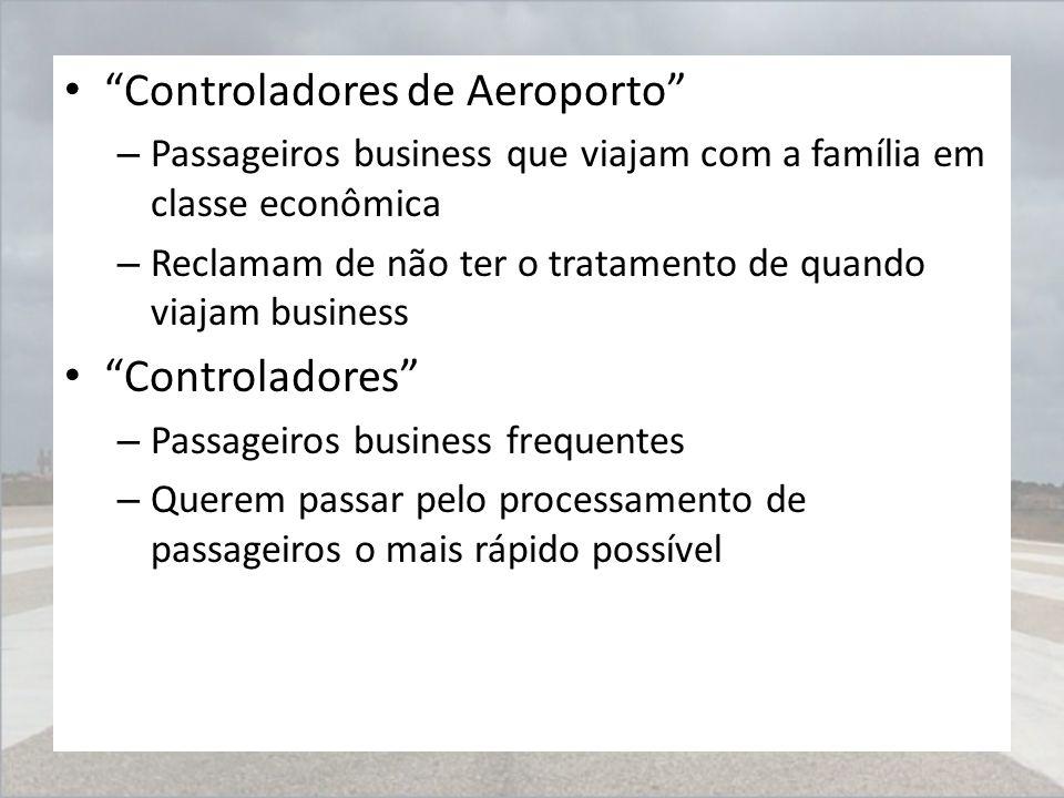 """""""Controladores de Aeroporto"""" – Passageiros business que viajam com a família em classe econômica – Reclamam de não ter o tratamento de quando viajam b"""