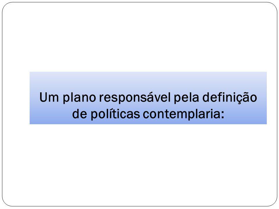 Um plano responsável pela definição de políticas contemplaria: