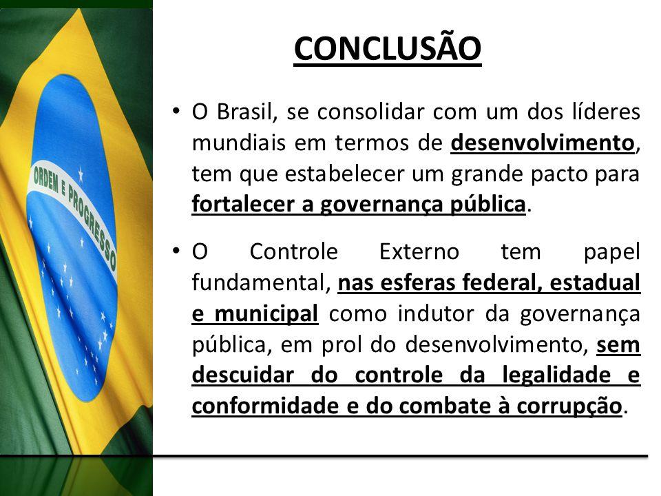 O Brasil, se consolidar com um dos líderes mundiais em termos de desenvolvimento, tem que estabelecer um grande pacto para fortalecer a governança púb
