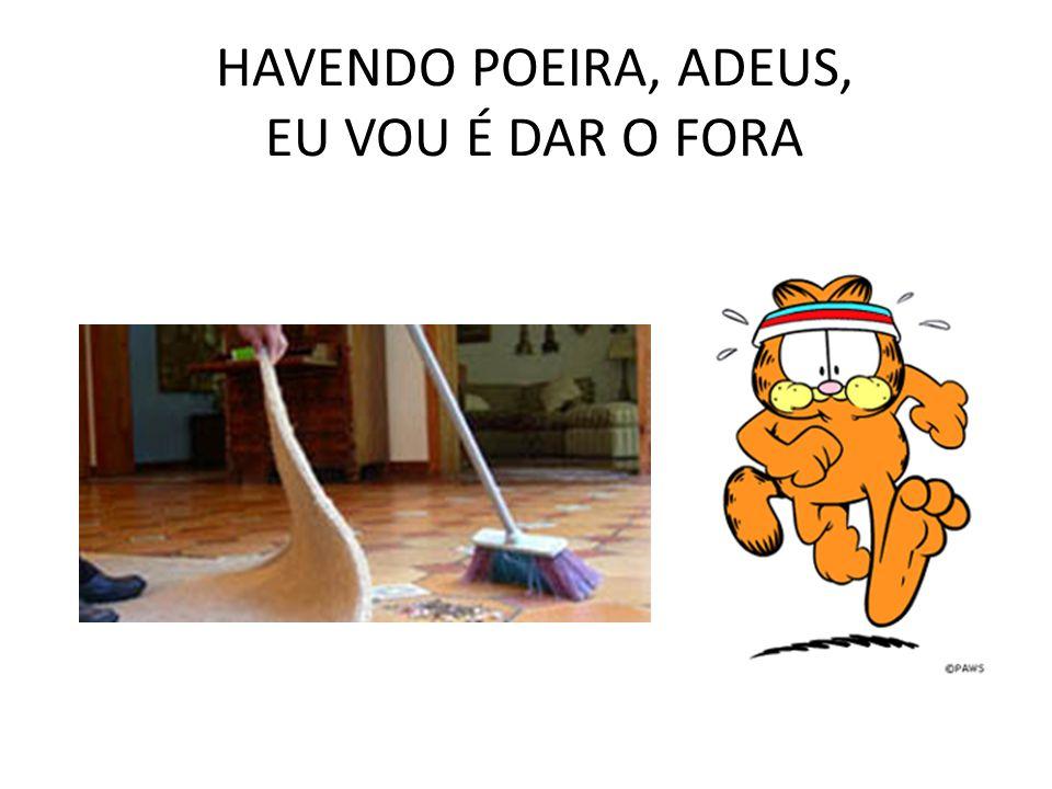 HAVENDO POEIRA, ADEUS, EU VOU É DAR O FORA