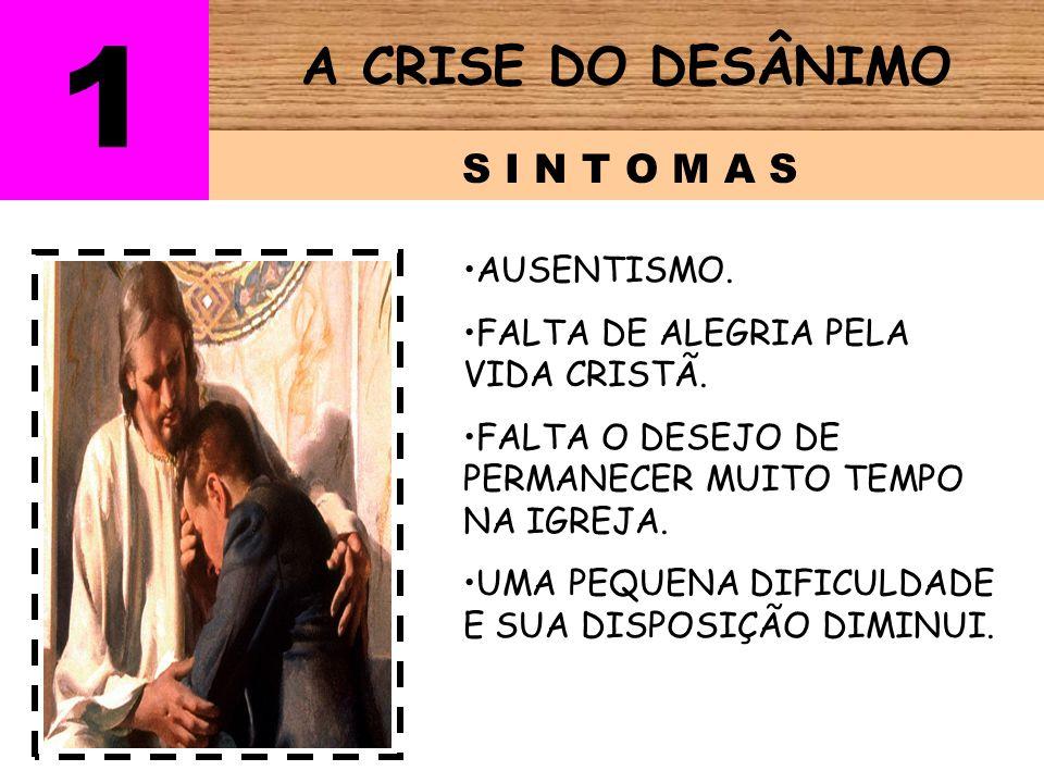 A CRISE DO DESÂNIMO D E S C R I ÇÃO 1 Não pode cumprir seu compromisso público (batismo).