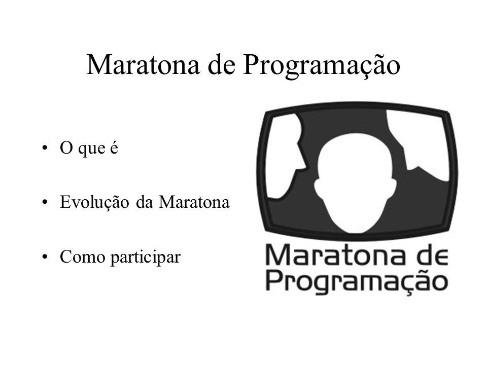 Maratona de Programação O que é Evolução da Maratona Como participar