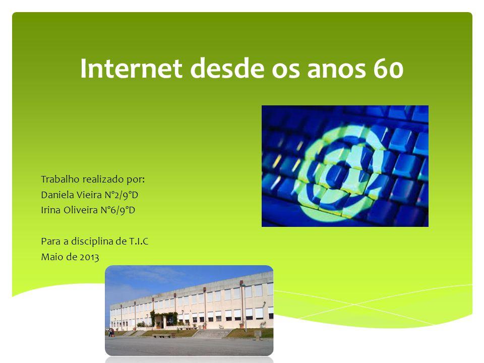  Introdução;  O começo;  O destino;  Hoje;  Vantagens;  Desvantagens; Internet desde os anos 60