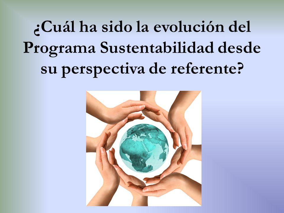 ¿Cuál ha sido la evolución del Programa Sustentabilidad desde su perspectiva de referente?