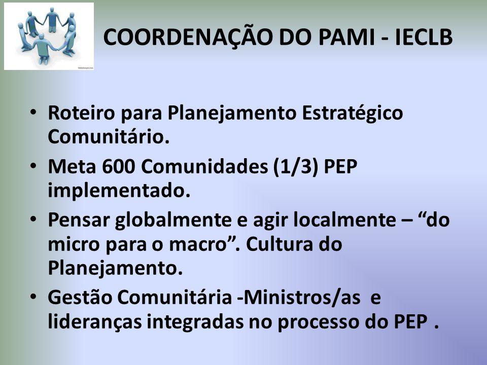COORDENAÇÃO DO PAMI - IECLB Roteiro para Planejamento Estratégico Comunitário.