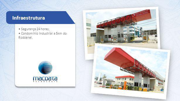 Segurança 24 horas; Condomínio Industrial a 5km do Rodoanel. Infraestrutura