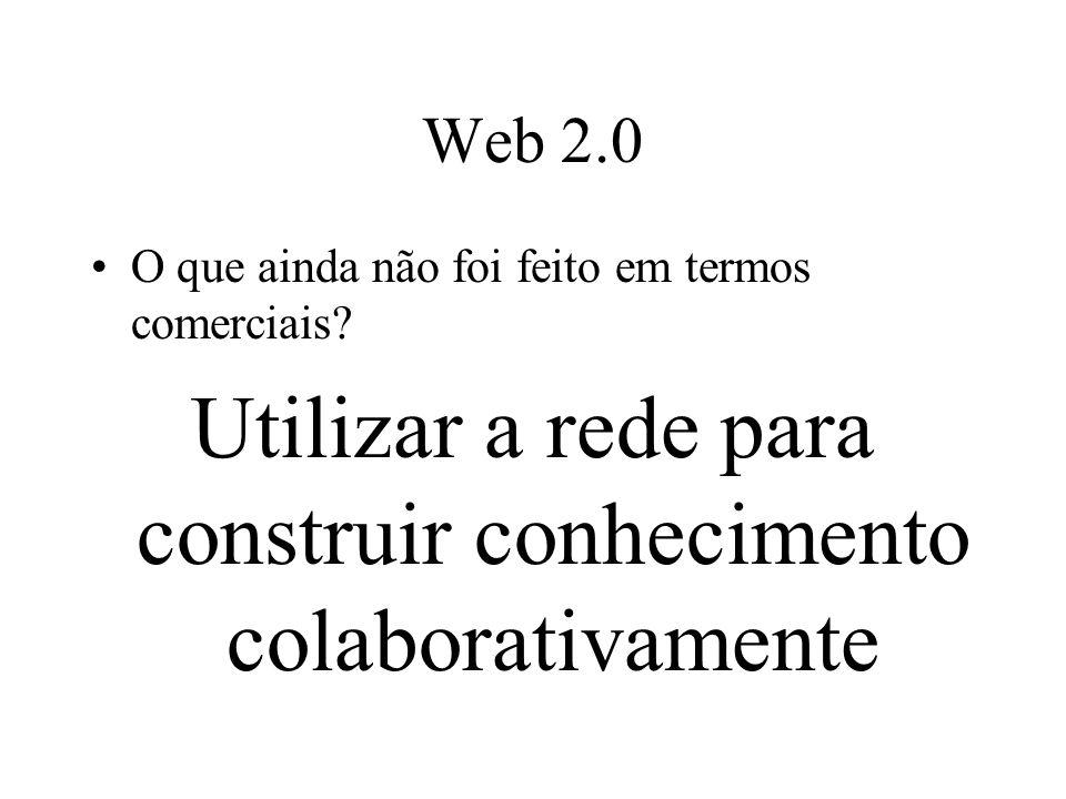 Web 2.0 O que ainda não foi feito em termos comerciais.