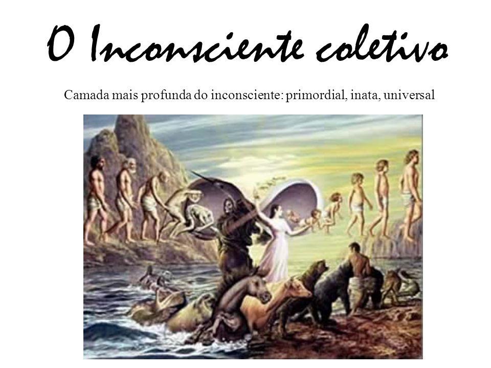 O Inconsciente coletivo Camada mais profunda do inconsciente: primordial, inata, universal
