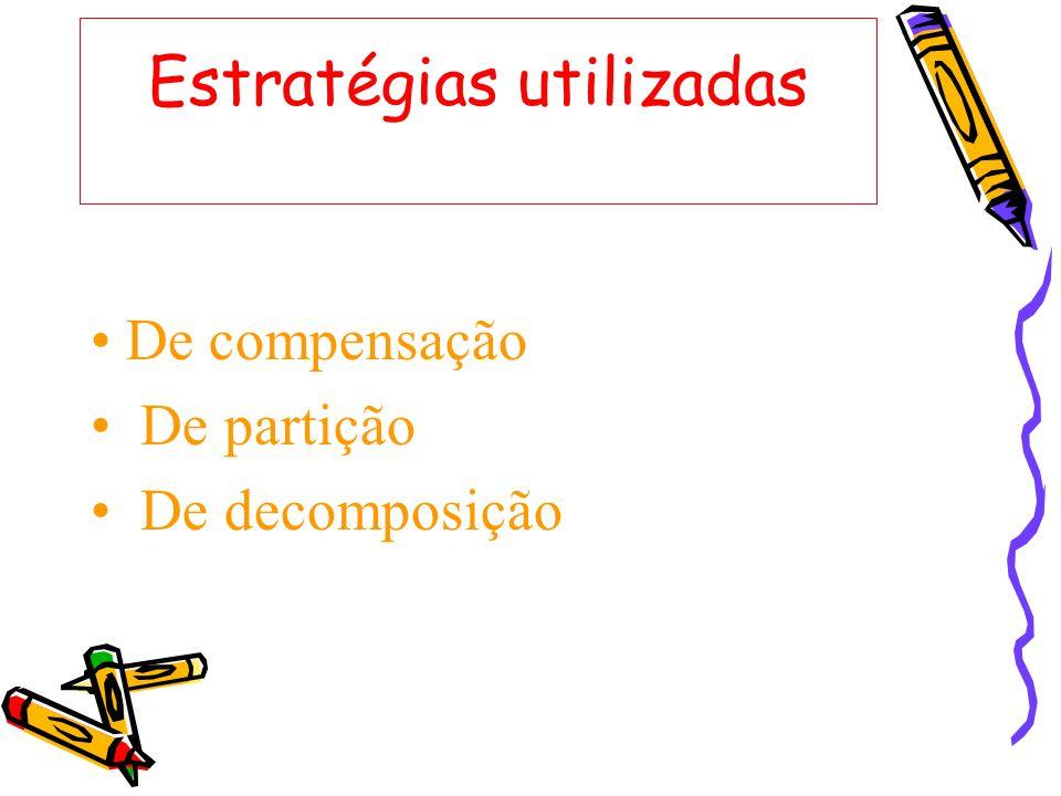 Estratégias utilizadas De compensação De partição De decomposição