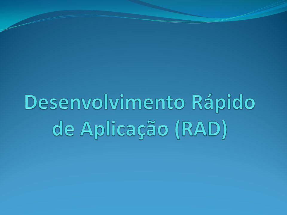 Definição Desenvolvimento Rápido de Aplicação é um modelo de processo de desenvolvimento de software iterativo e incremental que enfatiza um ciclo de desenvolvimento extremamente curto (entre 60 e 90 dias).
