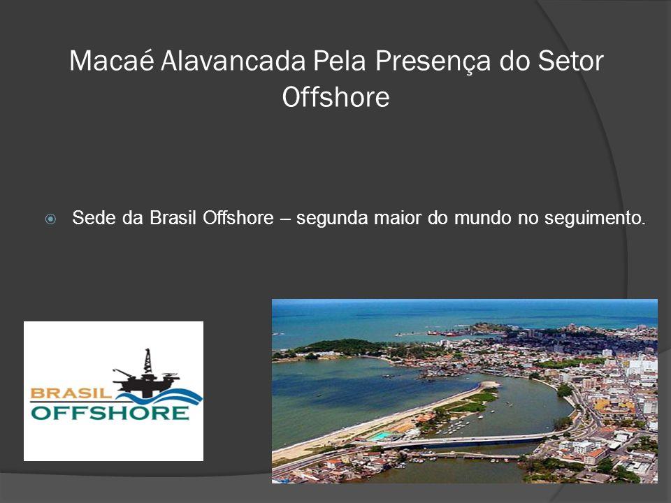 Macaé Alavancada Pela Presença do Setor Offshore  Sede da Brasil Offshore – segunda maior do mundo no seguimento.