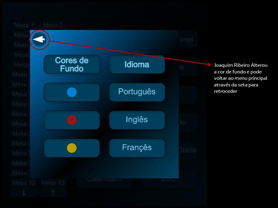 Joaquim Ribeiro Alterou a cor de fundo e pode voltar ao menu principal através da seta para retroceder