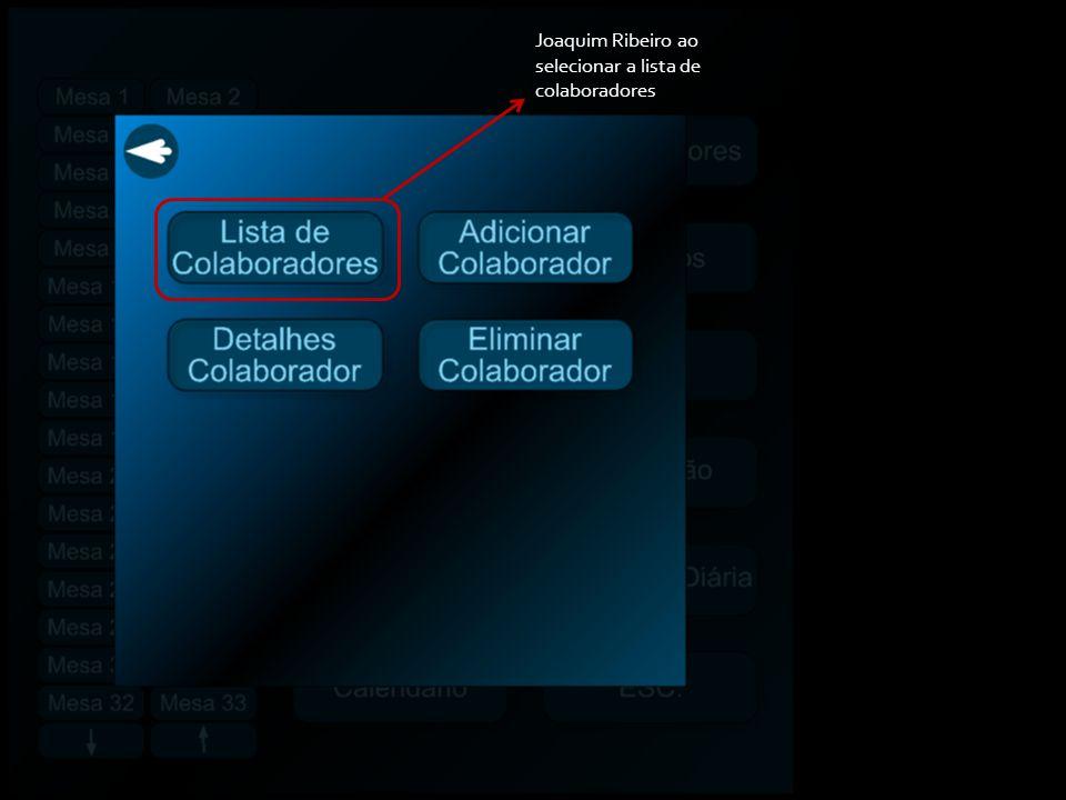 Joaquim Ribeiro tem acesso à lista de colaboradores que fazem parte da empresa Retrocede